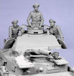 1-35-Resin-Figure-Model-Kit-German-Soldiers-no-Tank-4-Figures-WWII-WW2-Unpainted