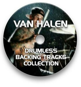 VAN-HALEN-MP3-ROCK-DRUMLESS-DRUMS-BACKING-TRACKS-COLLECTION-ON-CD