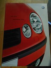 VW Polo range brochure 2003 model year pub May 2002