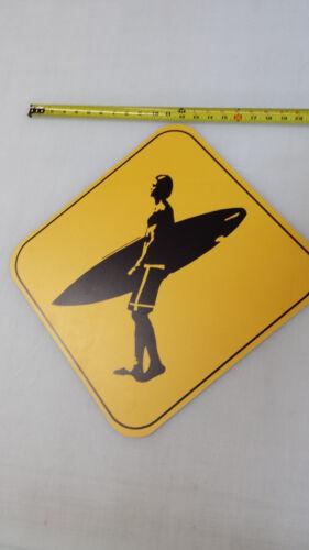 Vintage looking  SURFER CROSSING   Road Highway Sign