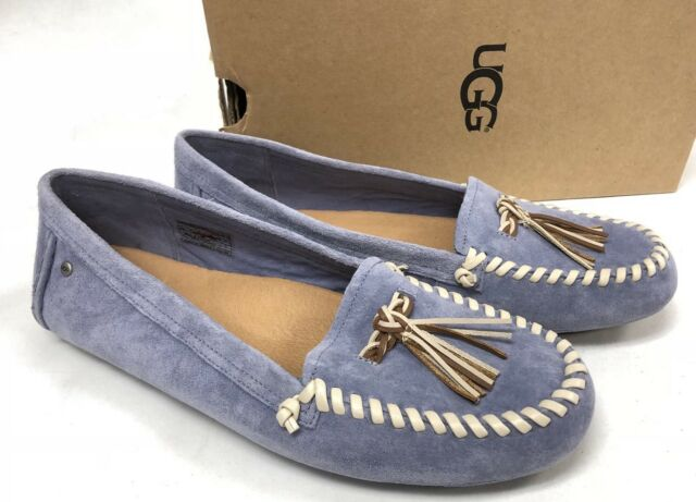 e92a12e74e9 UGG Australia Women's Dari Woven Braid Moccasin Shoes Stonewash Blue 1010099