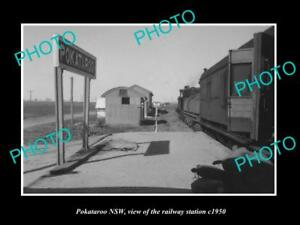 OLD-LARGE-HISTORIC-PHOTO-OF-POKATAROO-NSW-VIEW-OF-THE-RAILWAY-STATION-c1950