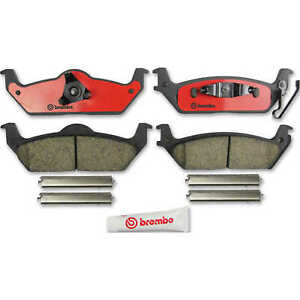 For Ford F-150 Lincoln Mark LT Rear Disc Brake Pad Set Brembo Slotted Ceramic