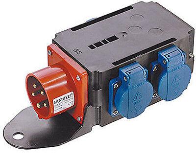 Adapterstecker Starkstromverteiler Stromverteiler CEE 16 A - 3 x Schuko (60524)