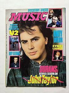MUSIC n. 89-1987 BOY GEORGE -U2 -CYNDI LAUPER-GENESIS-ALICE COUPER -DURAN DURAN