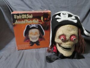 New-in-Box-8-Halloween-Animated-Lighted-Pirate-Skeleton-Skull-Indoor-Prop-Decor