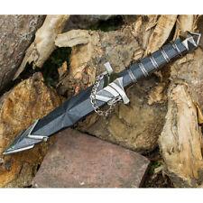 "11.5"" DARK ASSASSIN STAINLESS STEEL MEDIEVAL SHORT SWORD DAGGER w/ SHEATH"