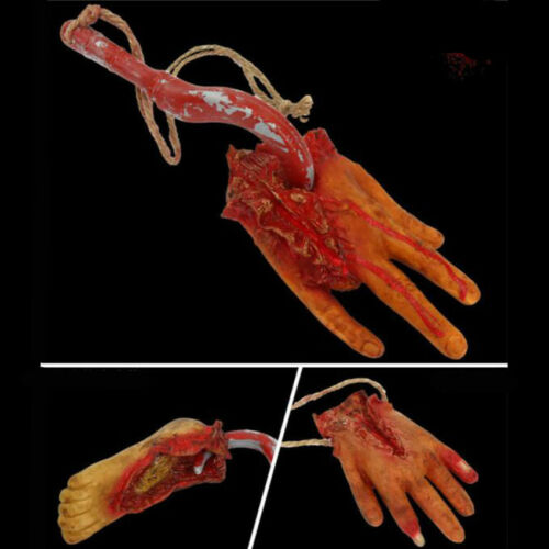 Creative Bloody Horror Halloween Prop Haunted House Hand Feet Broken Body Part