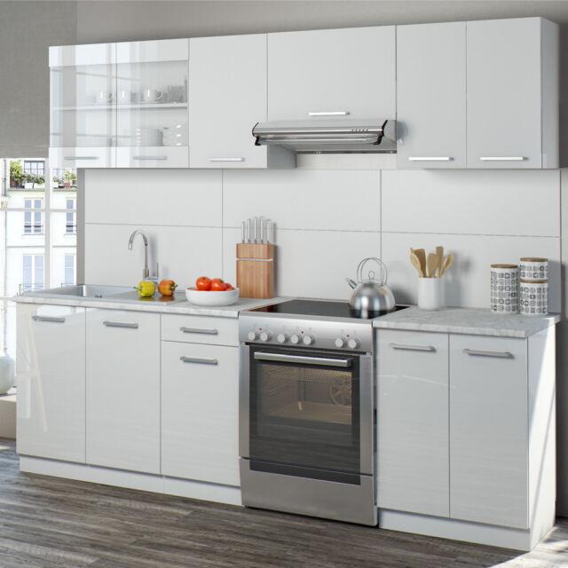 Oskar Raul 240 Cm Hochglanz Küchenzeile - Weiß günstig kaufen | eBay
