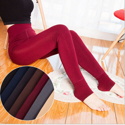 Damen Thermo Leggings Warm Fleece Blickdicht Winter Strumpfhose Leggins Hosen HJ