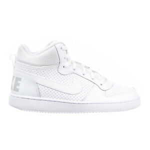 Nike Court Borough Mid Big Kid/'s Shoes White//White 839977-100
