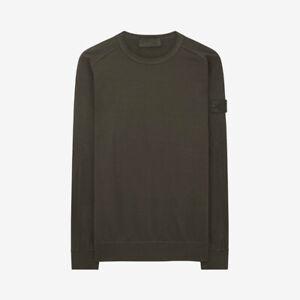 Stone-Island-Ghost-Piece-Sweatshirt-Military-Green
