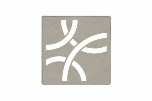 Schluter Systems Kerdi-Drain Grate 4-in Stone Grey Curve KDIF4GRKTSSGD6