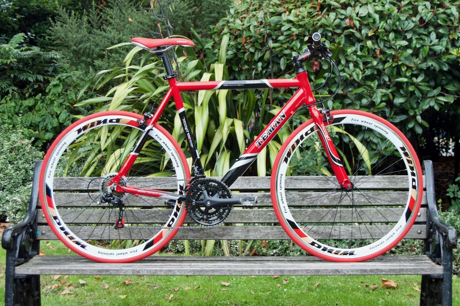 TEMAN  Brand New Hybrid   Racing Road Bike Bicycles- Shimano 21 Speed -RED