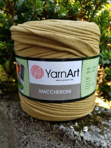 Spaghetti T-Shirt Yarn Mustard Brown NEW  630g  ❤ 478 Knitting Crochet Craft