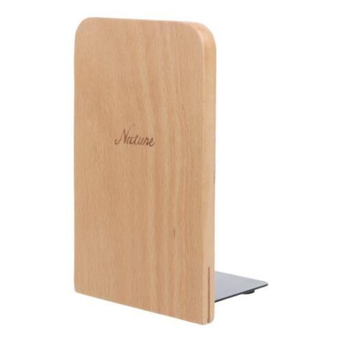 Walnut Wood Desktop Organizer Desktop Home Book Bookends Ends Stand Holder Shelf