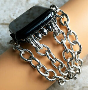 Twisted Wire Pattern Chain Link Band for Apple 38 40 42 44mm Watch All Series