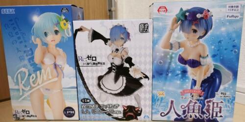 Re:Zero Figure set of 3 The Little Mermaid Ver /& Swimsuit /& Maid Ver Ver