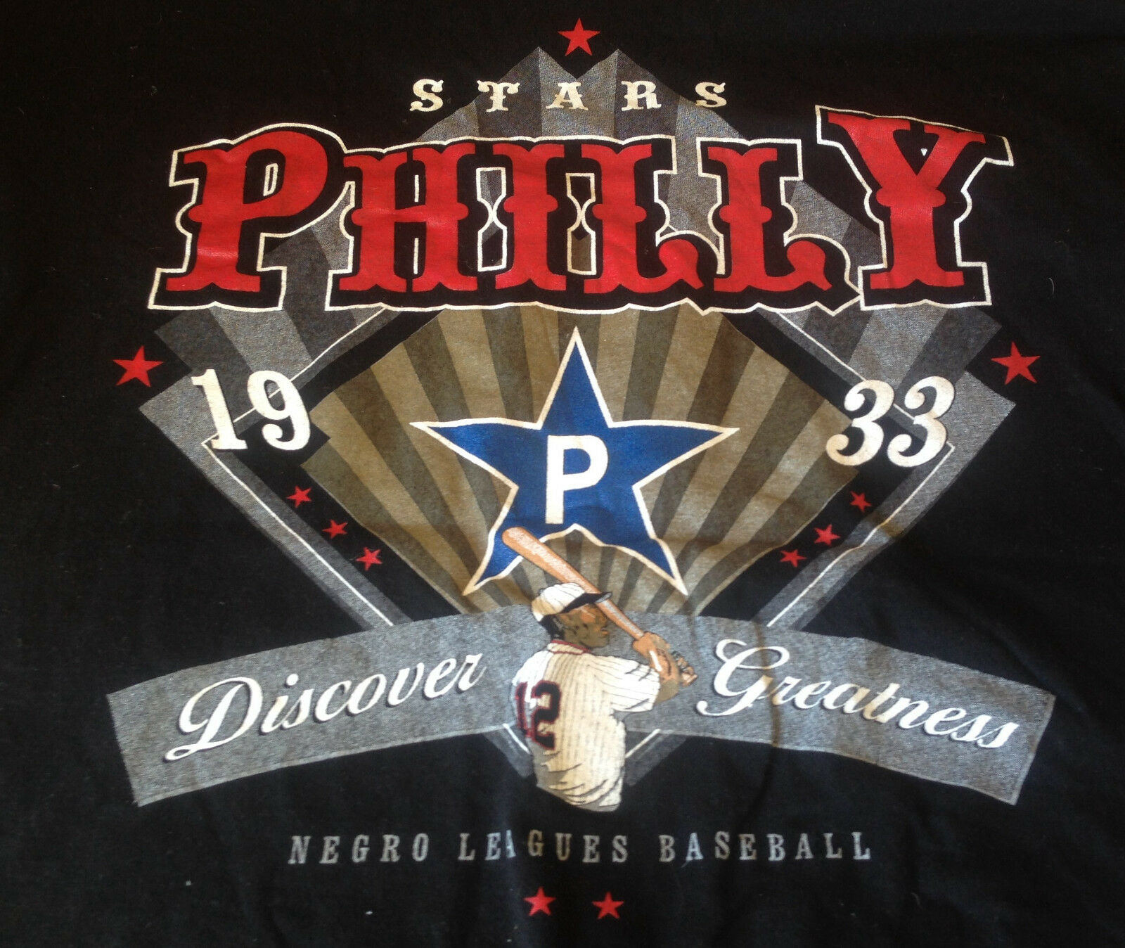 Big Boy NLBM black League Classic T-Shirt Philly 1933 Baseball Discover Great XL