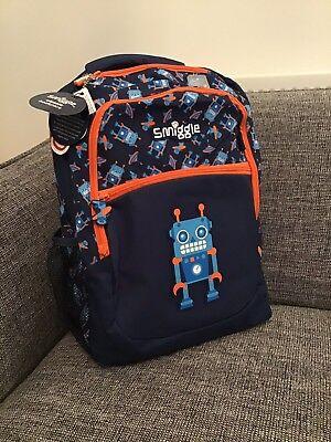 Affidabile Nuovo Ragazzo Smiggle Blu Robot Deja Vu Zaino Zaino Scuola Borsa Regalo Di Compleanno-mostra Il Titolo Originale