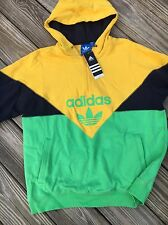 ADIDAS Mens Retro Hip Hop Rap Trefoil Hoodie Sweatshirt Shirt Sweater L Large