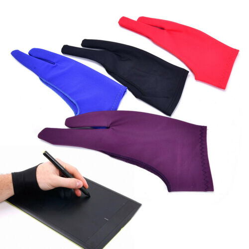 Two Finger Anti-fouling Glove For Artist Drawing /& Pen Graphic Tablet Pad FL