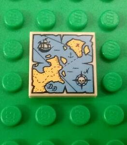 NEW-Lego-Treasure-Map-2x2-Stud-Tile-Plate-Pirates-Minifigs-Figs-x-1-piece