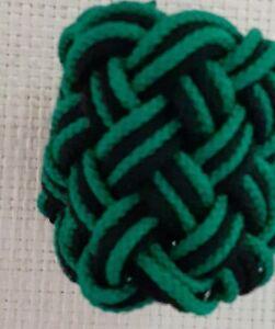 3-STRANDS-TURKS-HEAD-KNOT-by-RODTEK-GREEN-BLACK-GREEN