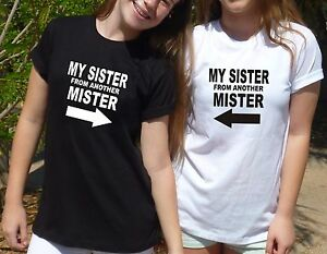 2 matching best friends t shirts sister from another. Black Bedroom Furniture Sets. Home Design Ideas