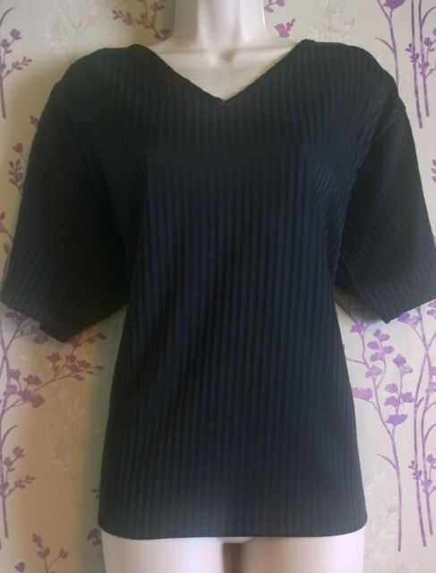 Black striped top Free Size from Paramour Designer Collection