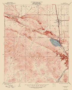 Topographical Map Print Palmdale California Quad Usgs 1937 23