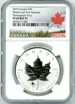 2015 $5 CANADA 1OZ SILVER MAPLE LEAF CHICAGO ANA PRIVY NGC PF70 REVERSE PROOF FR
