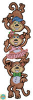 Plastic Canvas Kit Design Works Monkey Pile Up Wall Hanging Dw2044