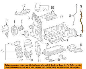 details about mercedes oem 07 09 e320 3 0l v6 engine oil level dipstick tube 6420101166  e320 v6 engine diagram #13