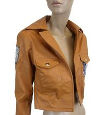 LADIES FAUX LEATHER JACKET in CAMEL COLOR SIZE 8  (D-39)
