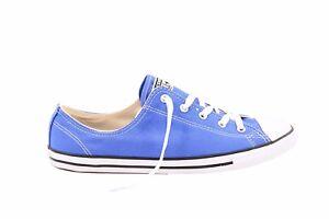 Le donne Converse Ctas DAINTY CANVAS OX 553373 C Scarpe Da Ginnastica Colore Blu Rrp 88 BCF79