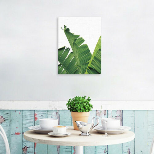 Modern Watercolor Green Leaf Plant Print Poster Home Decor Canvas Painting S