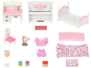 Details about Sylvanian Families Calico Critters Furniture Girl\'s Bedroom  Set