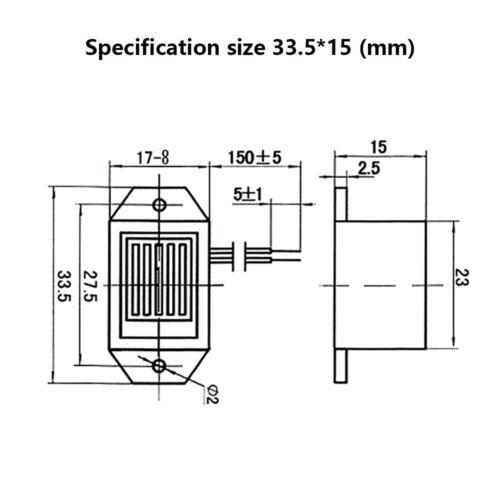 1PC 85DB DC de alarma 1.2V 3V 6V 12V Electronic Buzzer Continuo pitido piezoeléctrico
