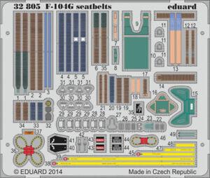 Eduard-1-32-F-104-G-Seatbelts-for-Italeri-Color-PE-Detail-Set-32805