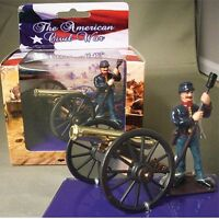 Civil War Cannon Union Artillery Set Hand Painted Metal 1/32 Scale Item 18592