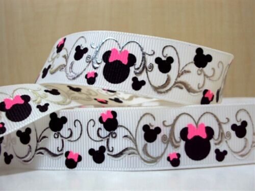 1 METRE LOVELY MINNIE MOUSE RIBBON SIZE 7//8 HEADBANDS HAIR BOWS CARD MAKING CAKE