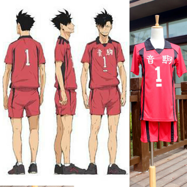 Haikyuu!! Nekoma High School Jersey Uniform No.1 Tetsurou Kuroo Cosplay costume