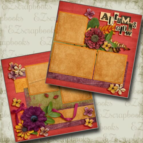 2 Premade Scrapbook Pages EZ Layout 3510 AUTUMN/'S GLOW