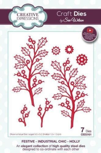 CREATIVE EXP Sue Wilson FESTIVE COLLECTION Industrial Chic HOLLY CED3161