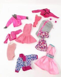 Vintage-Barbie-Doll-Clothes-Bundle-Collectors-robe-jupes-vestes-Justaucorps-Rose