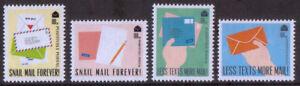 GB-2018-Positively-Postal-u-m-mnh-Cinderella-stamps-x-4-Snail-Mail-Forever