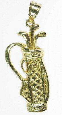 Ladies Mens 14K Yellow gold gold Club Bag Charm 172067