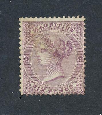 Sammlung Hier Mauritius 1863,6d Wmk Cc Perf 14,vf Postfrisch Sg #63 Cat $ 550 Siehe Unten Europa