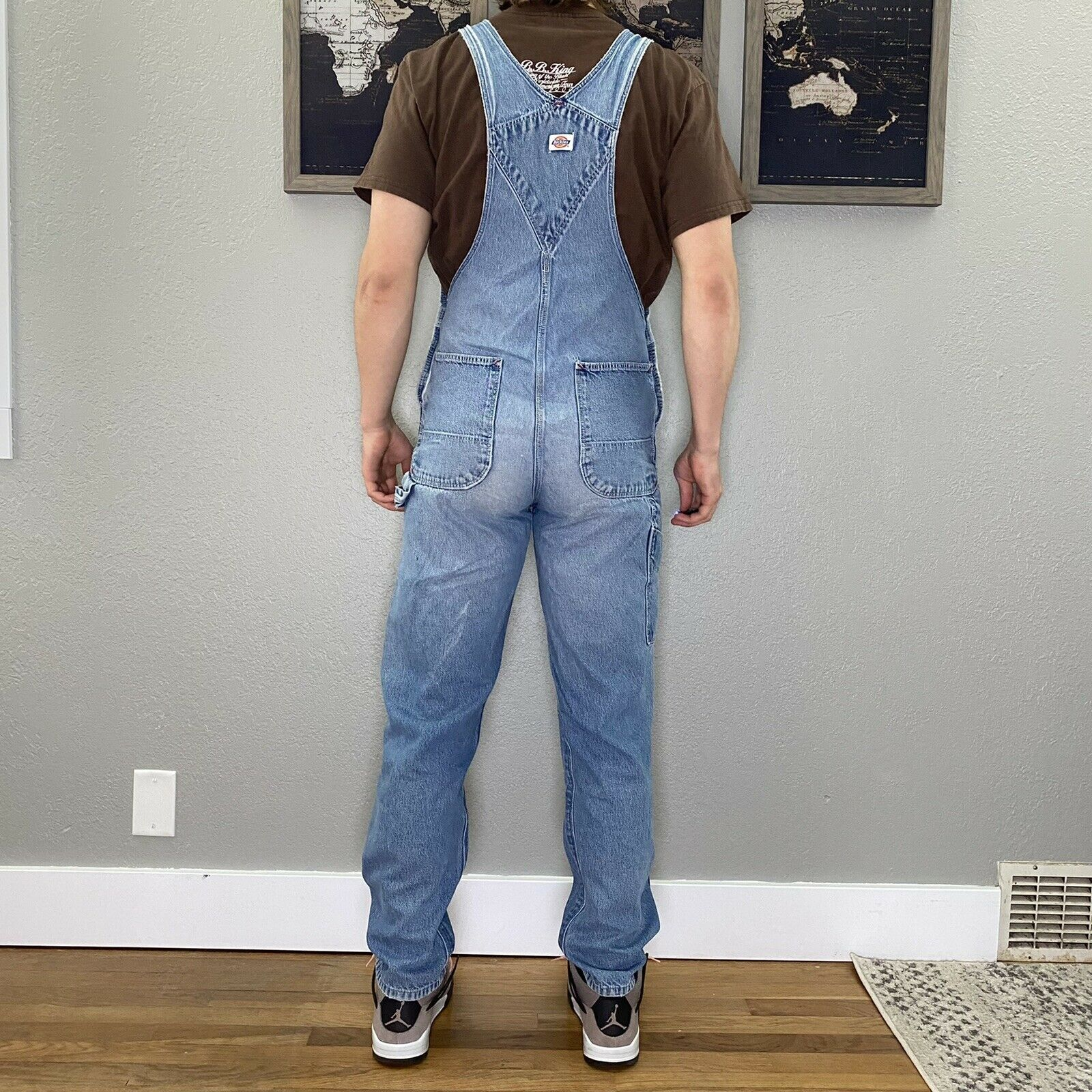 mens 34x32 light wash dickies overalls - image 4